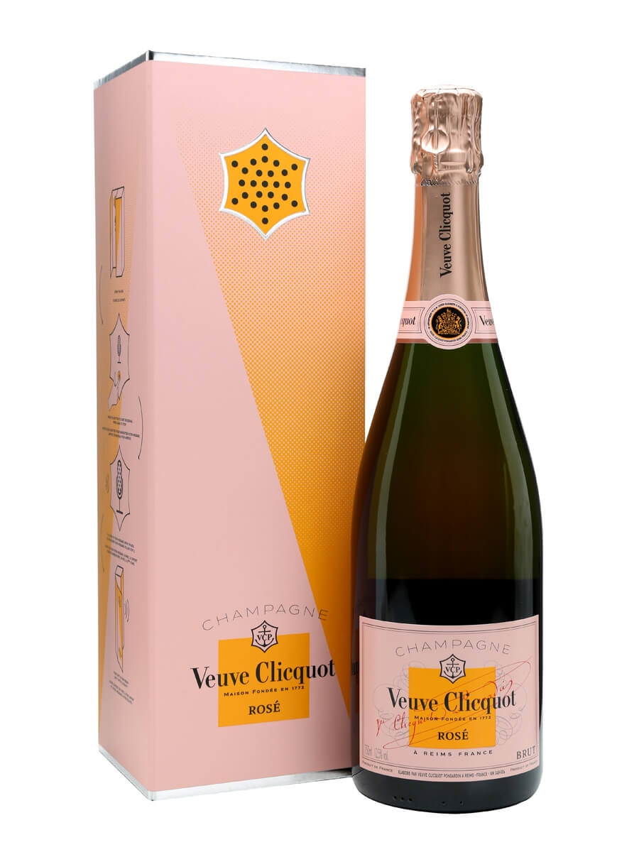 Veuve clicquot rose champagne call box record your for What is rose champagne