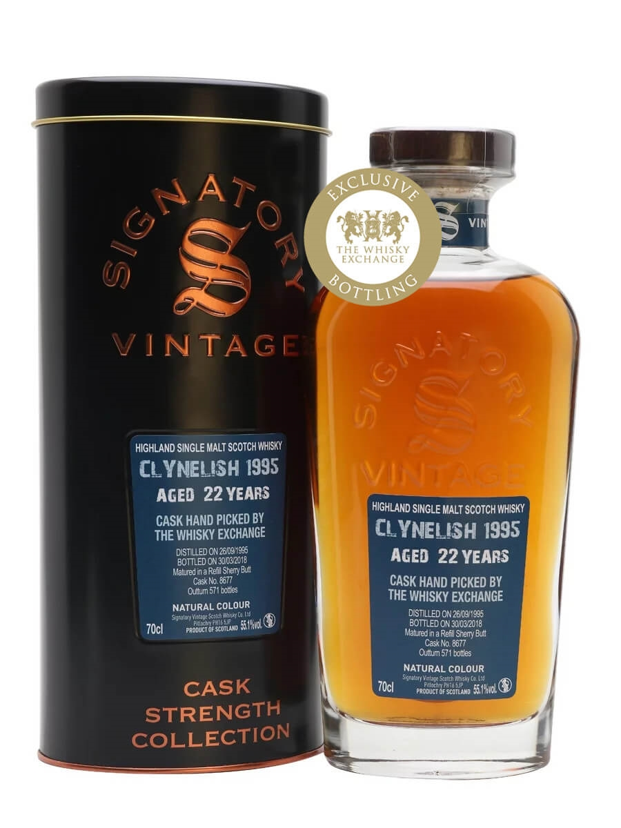 Clynelish 1995 / 22 Year Old / Sherry Cask / Signatory for TWE