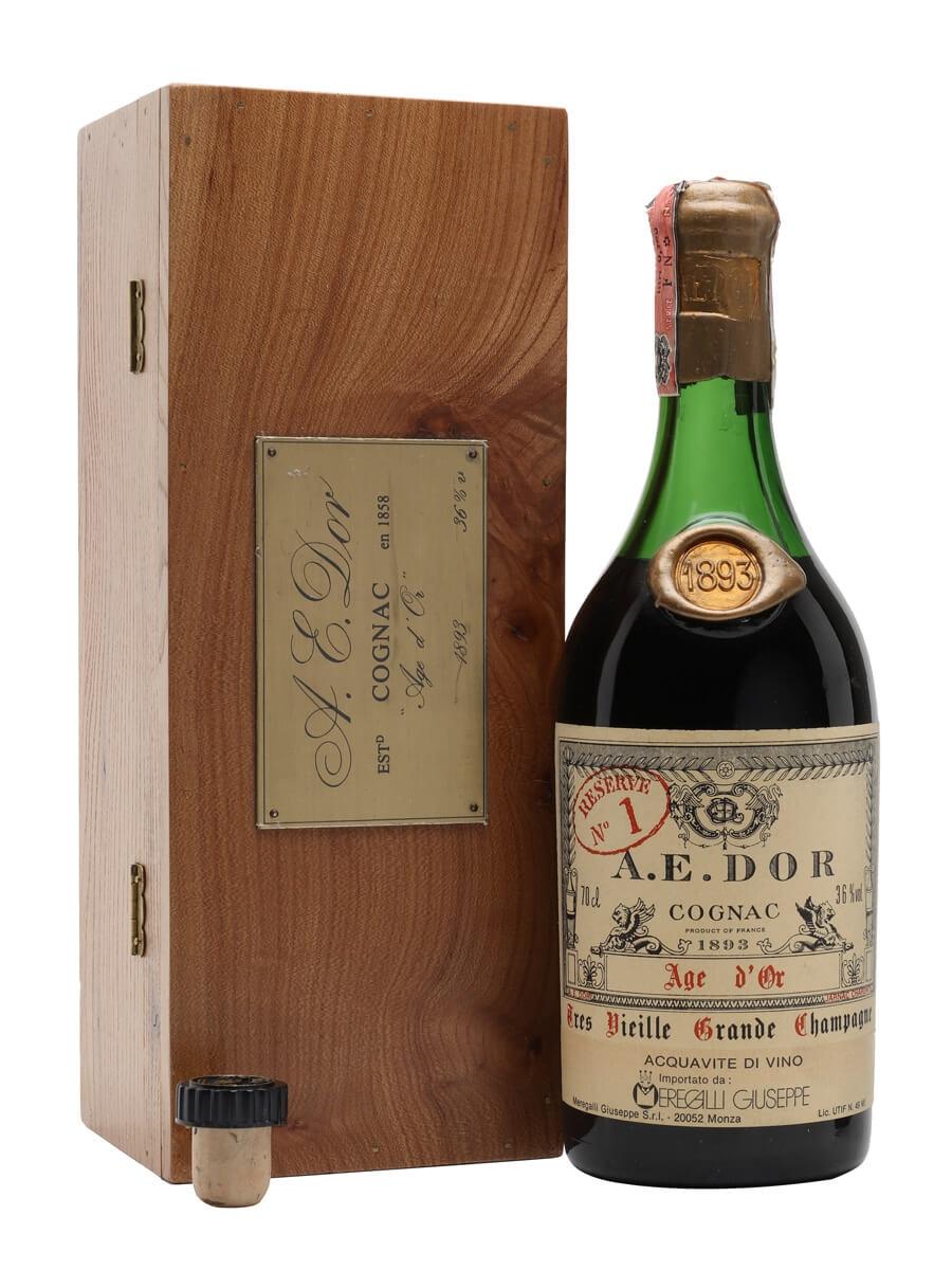 AE Dor No.1 Cognac / 1893 Vintage / Age d'Or / Bot.1980s