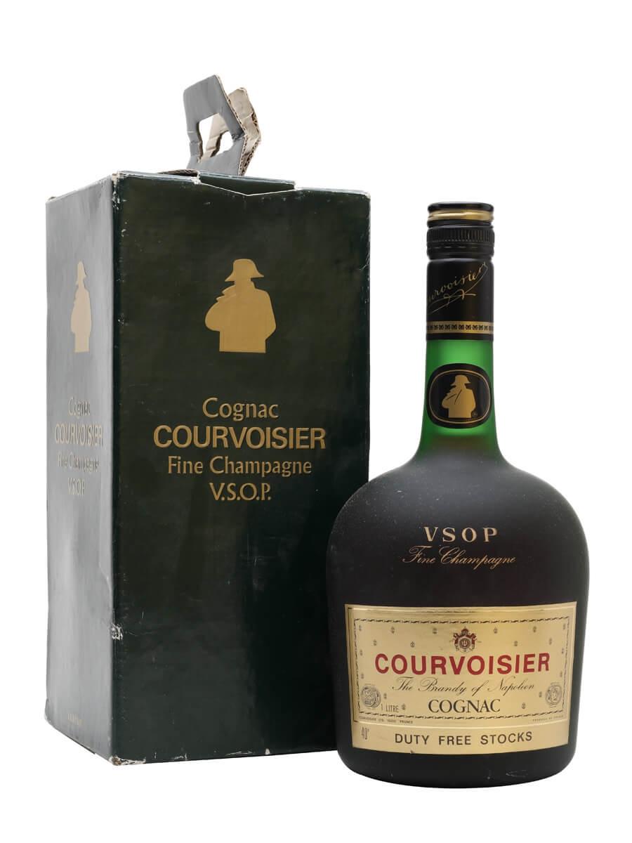 Courvoisier VSOP Cognac / Fine Champagne / Bot.1980s / Litre
