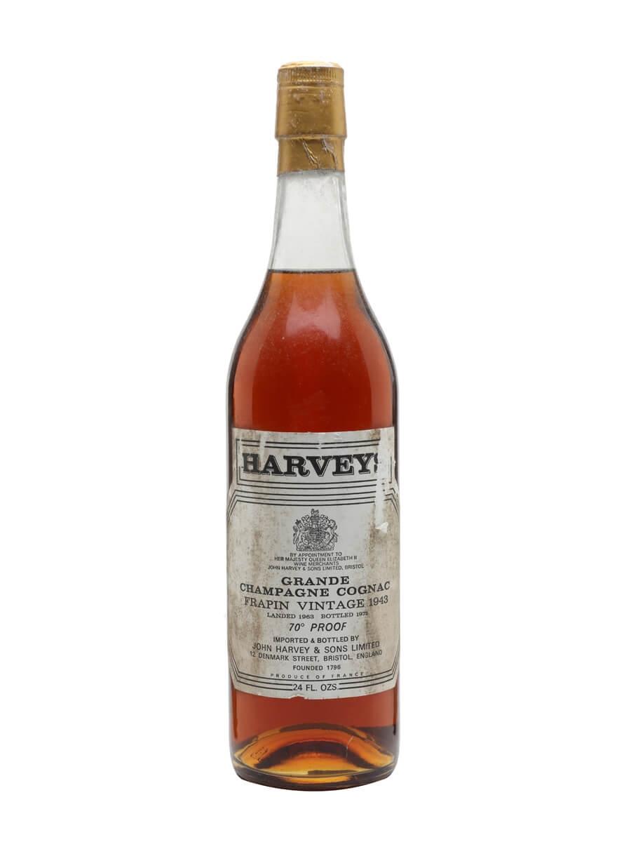 Frapin 1943 / Grande Champagne / Landed 1963 / Bot.1973 / Harveys