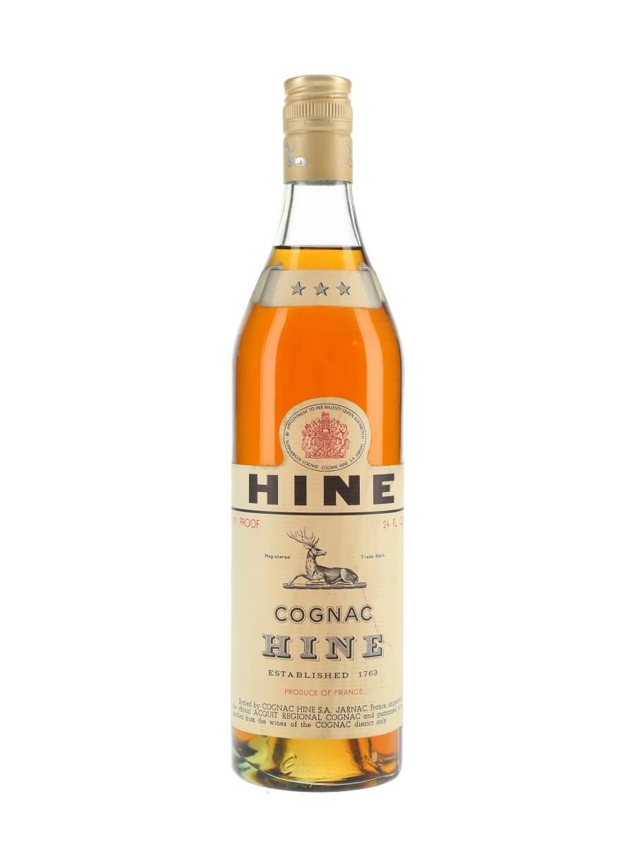 Hine 3 Stars Cognac / Bot.1960s