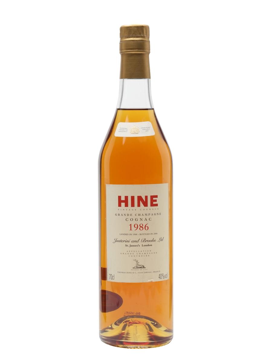 Hine 1986 Cognac / Grande Champagne / Landed 1988 / Bot.2006