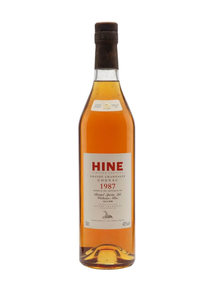 Hine 1987 Cognac / Grande Champagne / Landed 1989 / Bot.2003