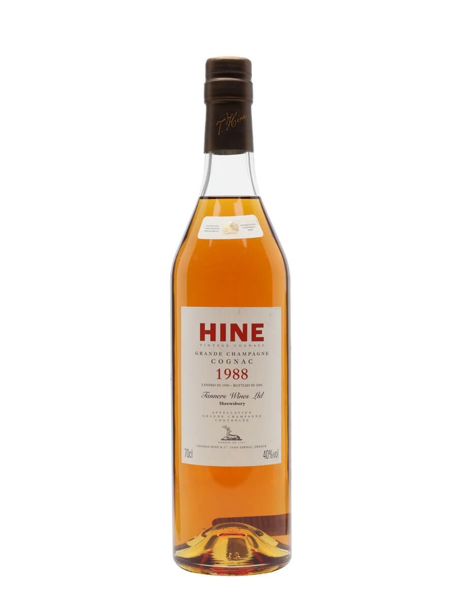 Hine 1988 Cognac / Grande Champagne / Landed 1990 / Bot.2004