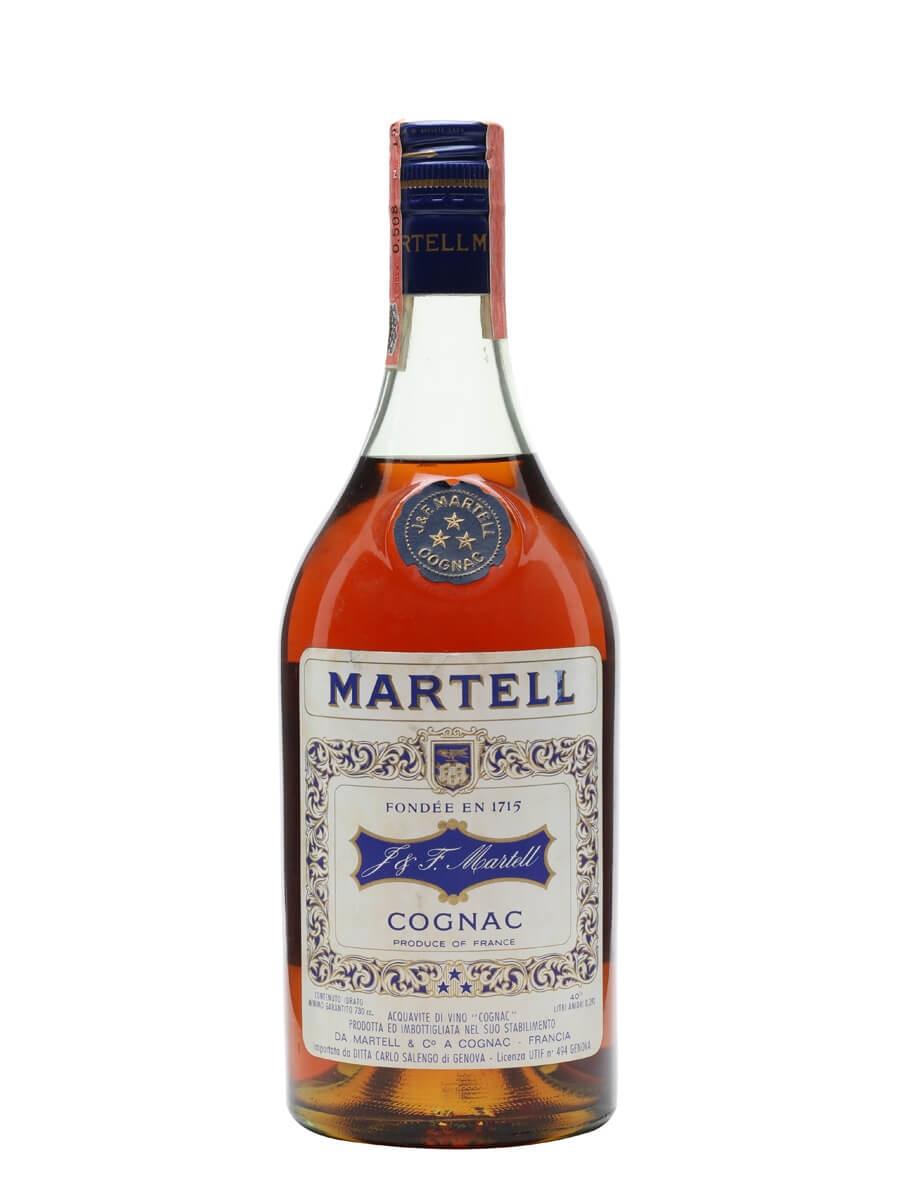 Martell 3 Stars Cognac / Bot.1970s