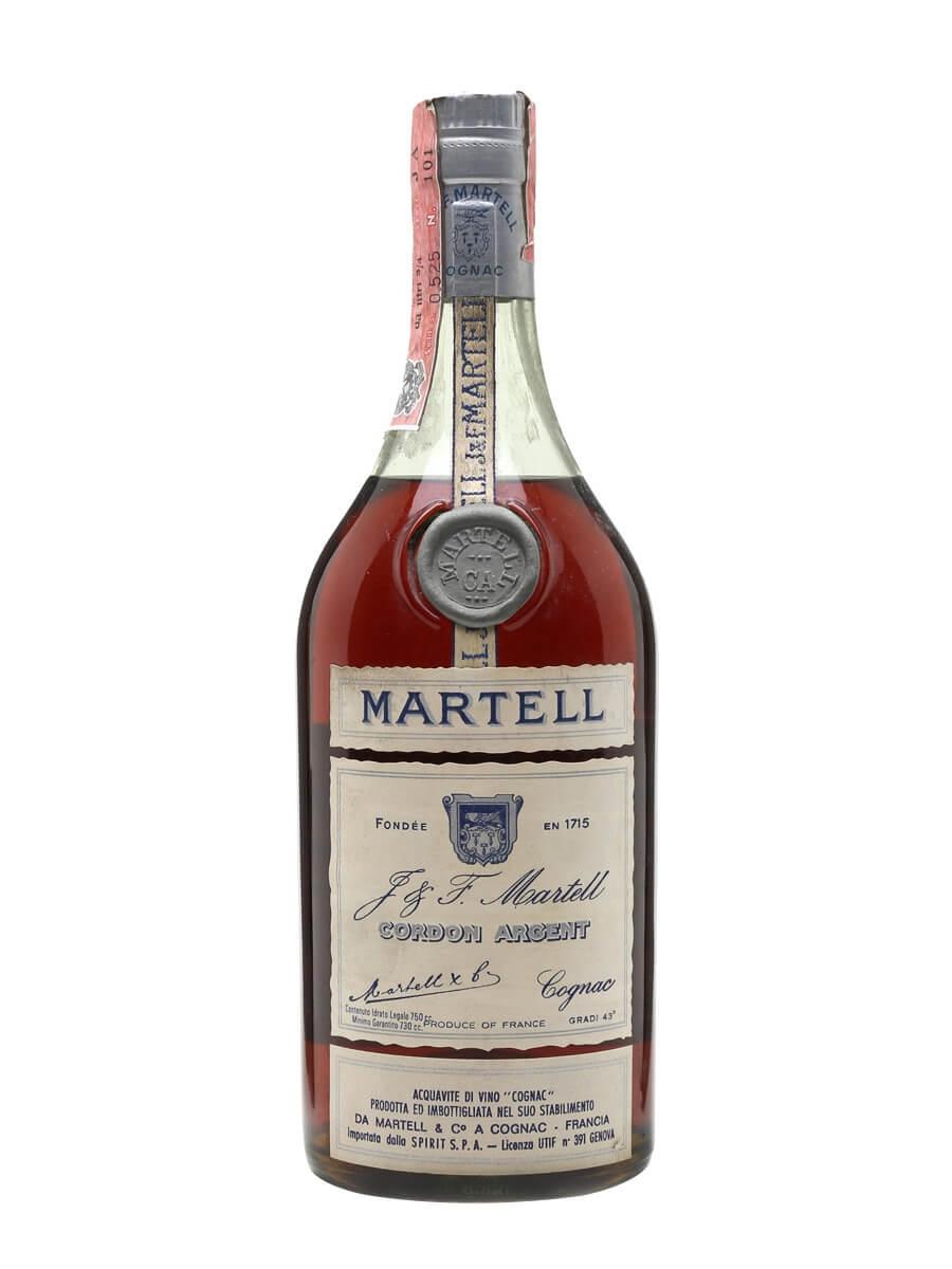 Martell Cordon Argent Cognac / Bot.1970s