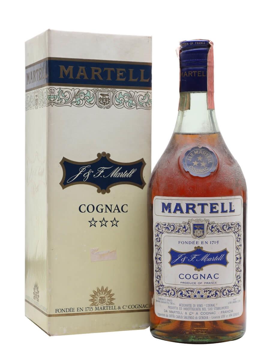 Martell 3 Star Cognac / Bot.1970s