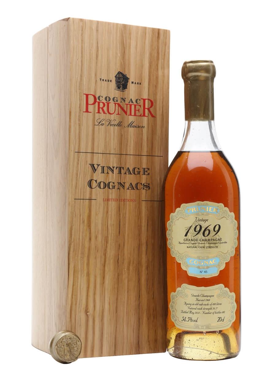 Prunier 1969 Vintage Grande Champagne Cognac