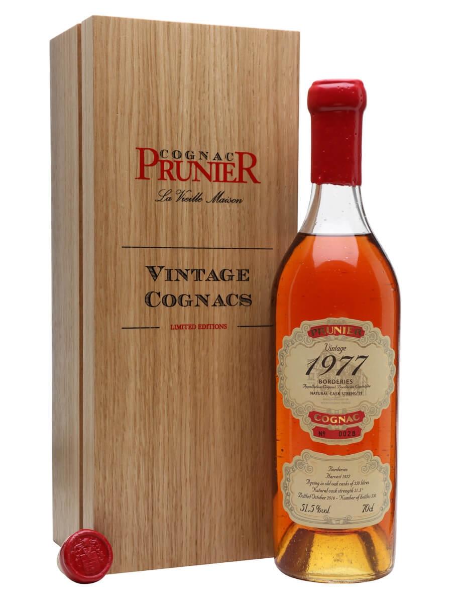 Prunier 1977 Borderies Cognac