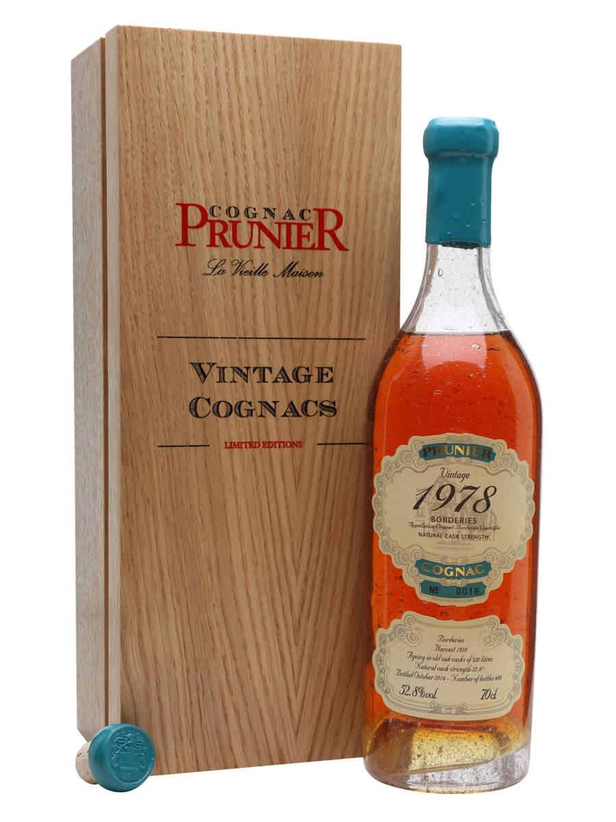 Prunier 1978 Borderies Cognac