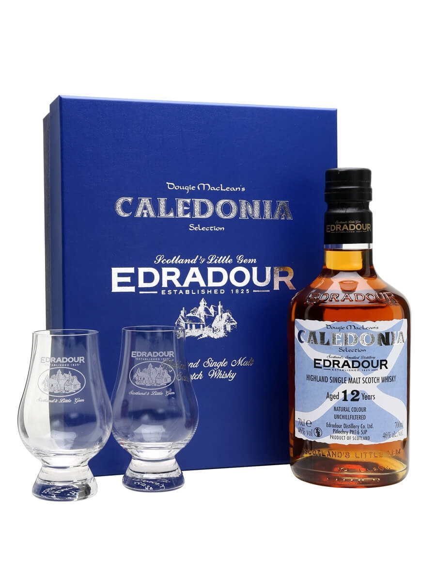 Edradour 12 Year Old Caledonia Selection Glass Pack