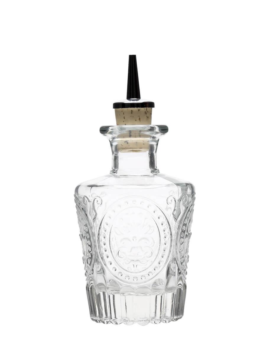 Dash Glass Bottle & Pourer / Vintage Look / 12cl