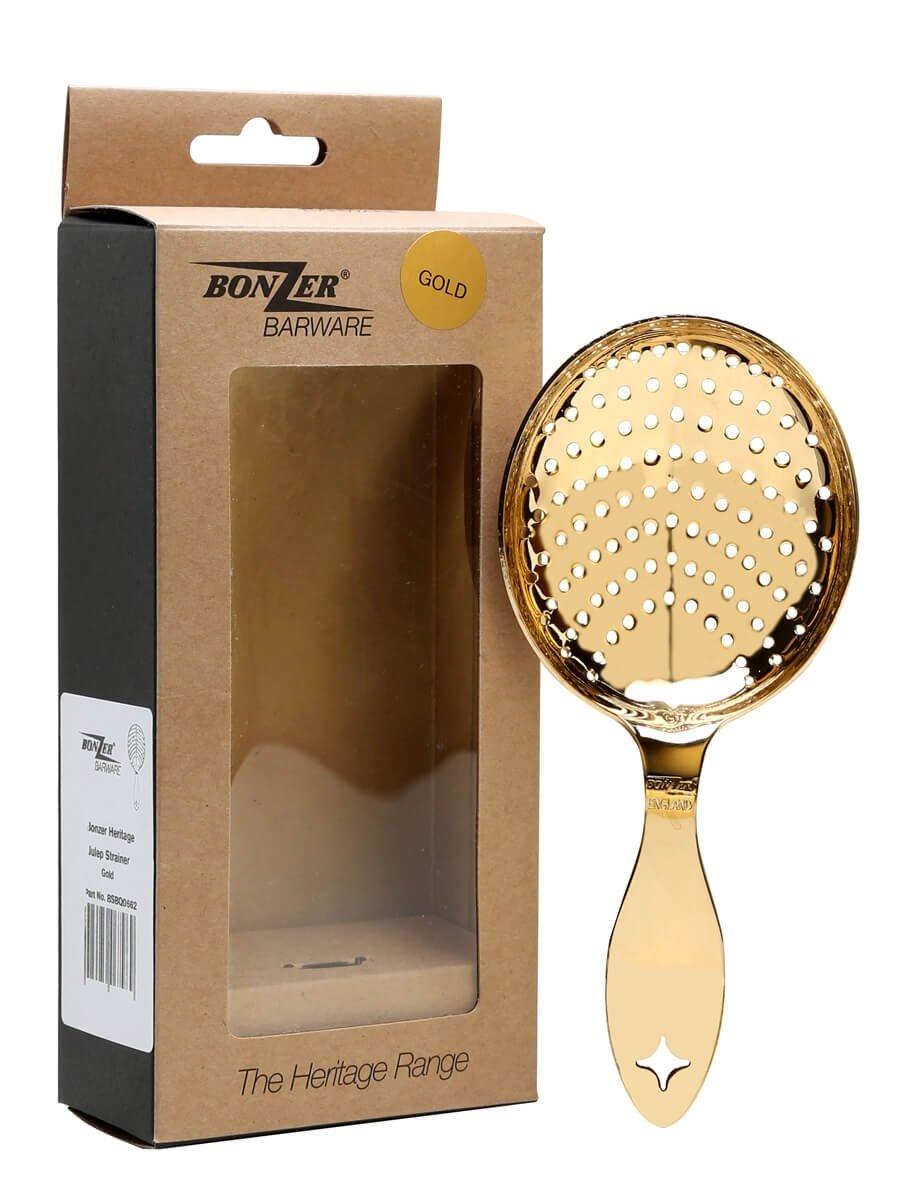 Bonzer Heritage Gold Plated Julep Strainer