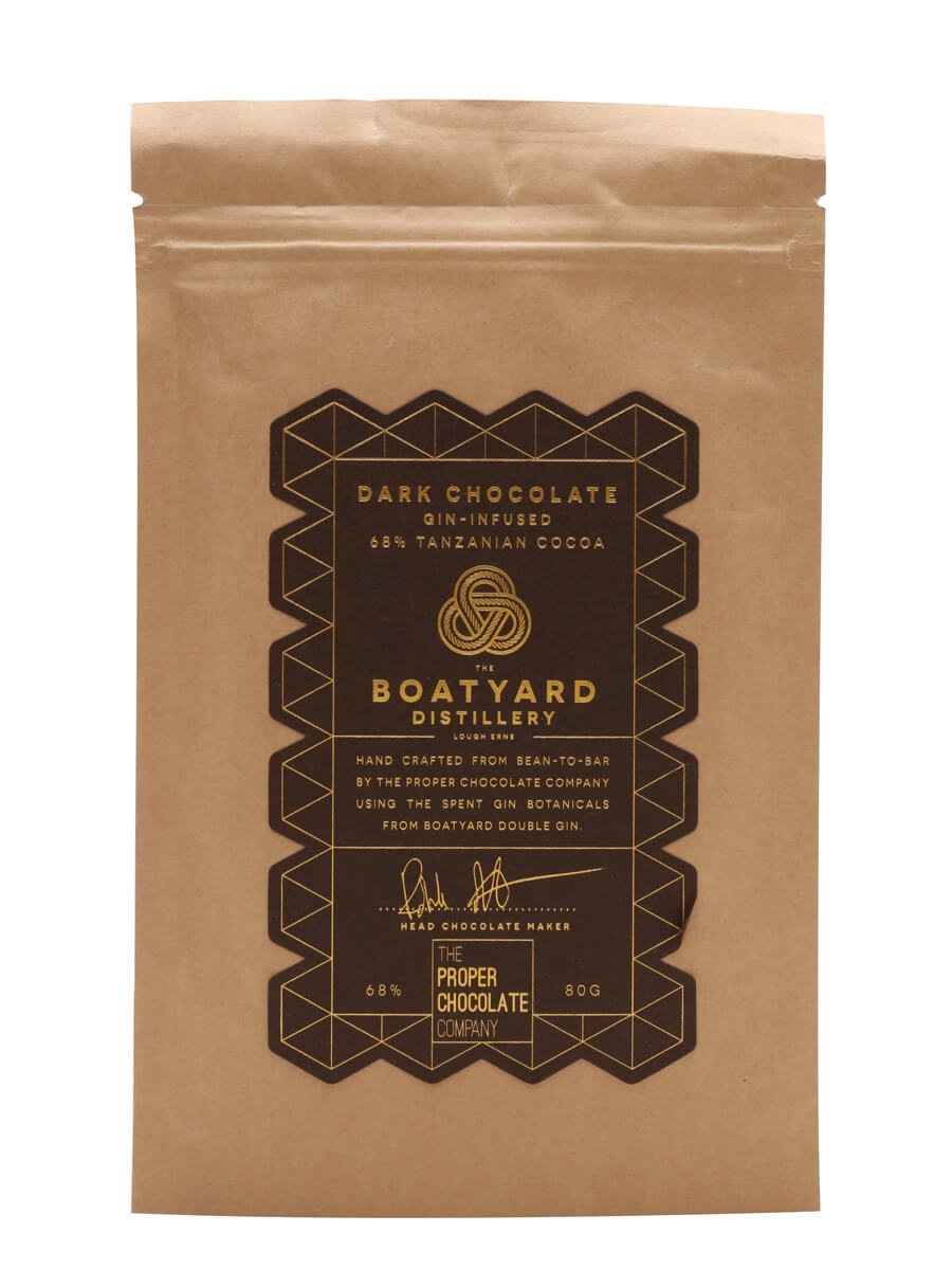 Boatyard Gin Infused Dark Chocolate / 68% Cocoa / 70g