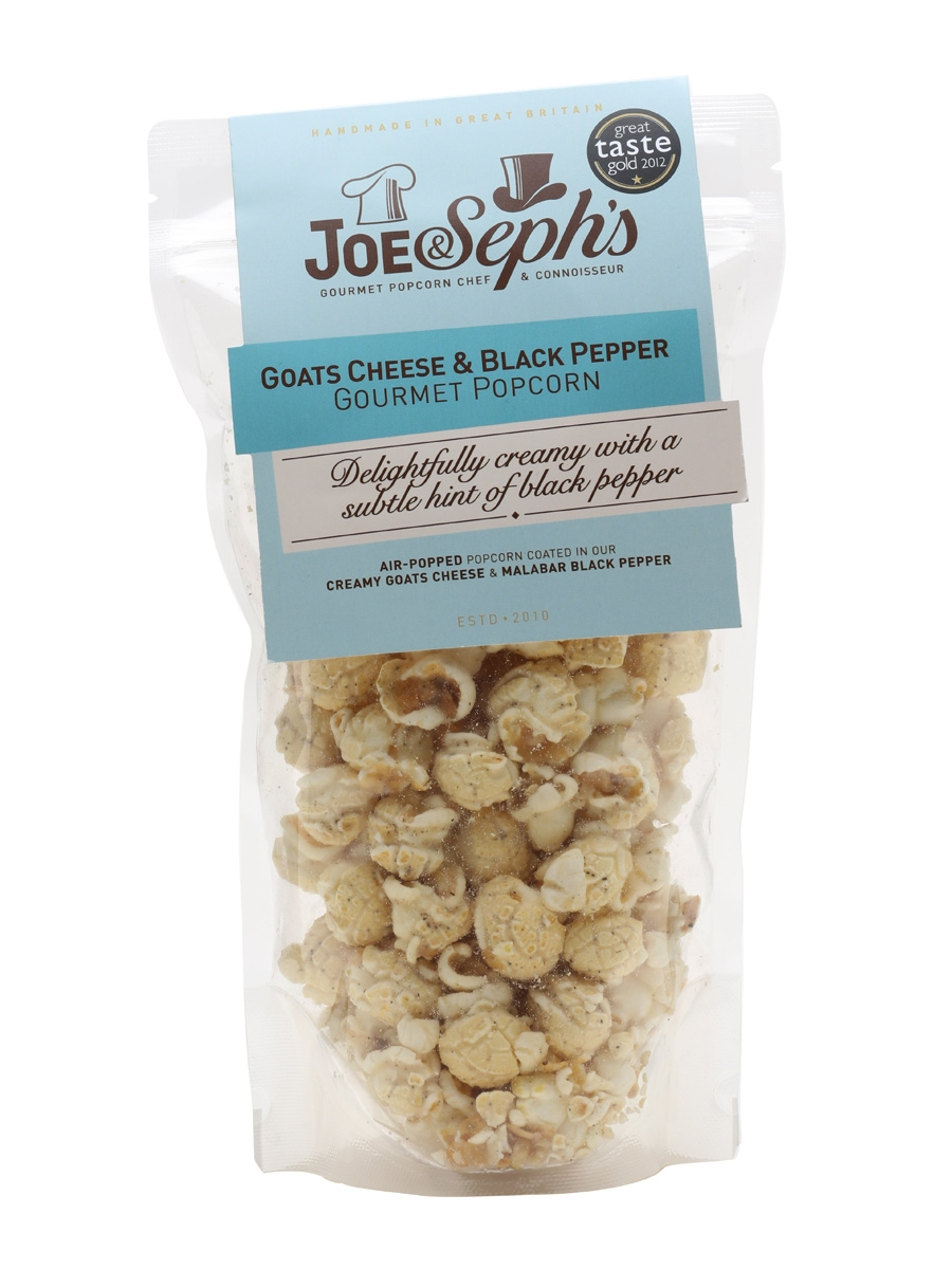 Joe & Seph's Goats Cheese and Black Pepper Popcorn Pouch / 70g