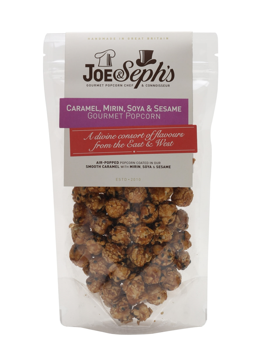 Joe & Sephs Caramel, Mirin Soya & Seasame Popcorn Pouch / 80g