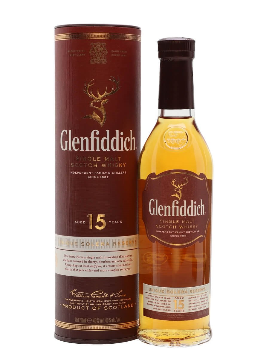 Glenfiddich 15 Year Old / Small Bottle