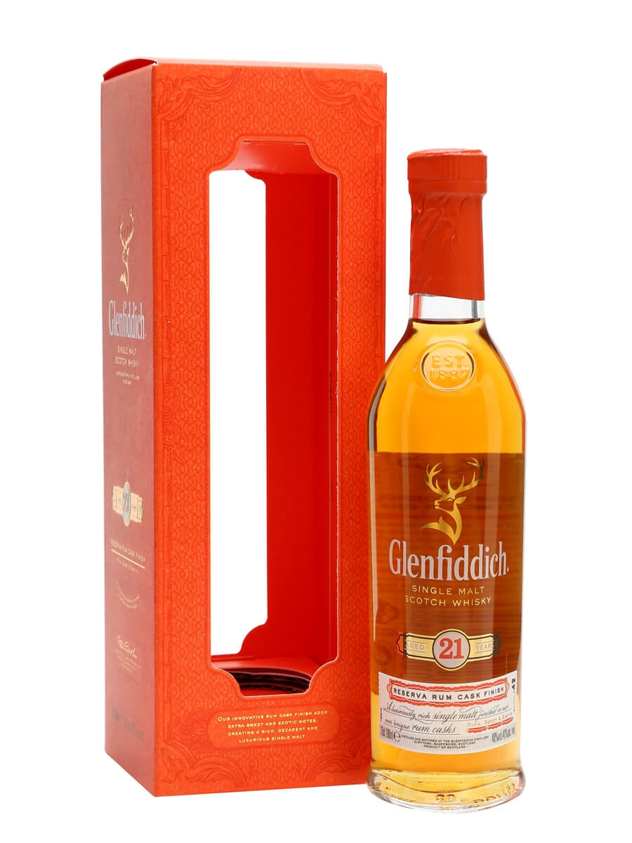 Glenfiddich 21 Year Old - Reserva Rum Finish - Small Bottle Scotch on