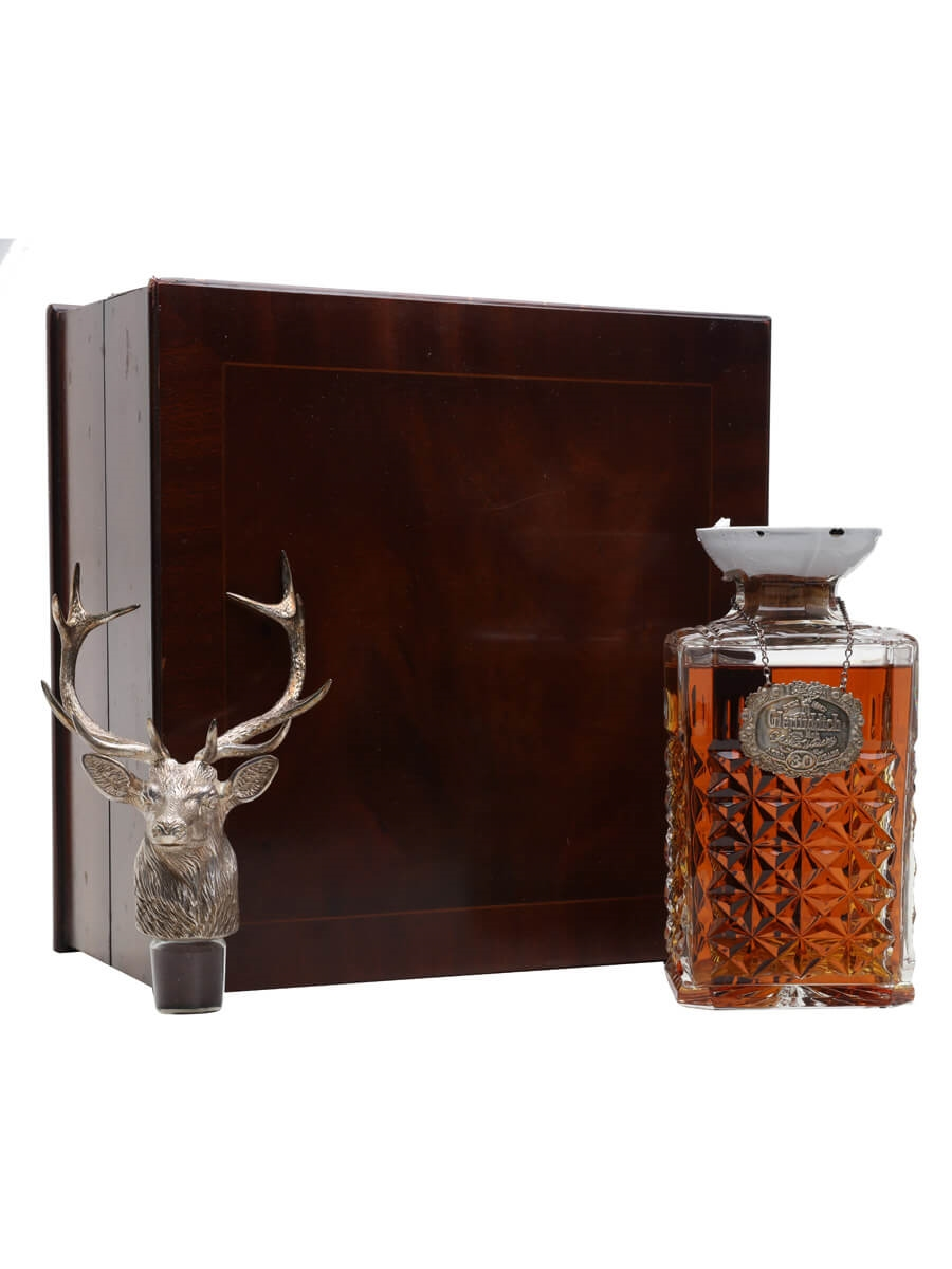 Glenfiddich 30 Year Old / Silver Stag Decanter