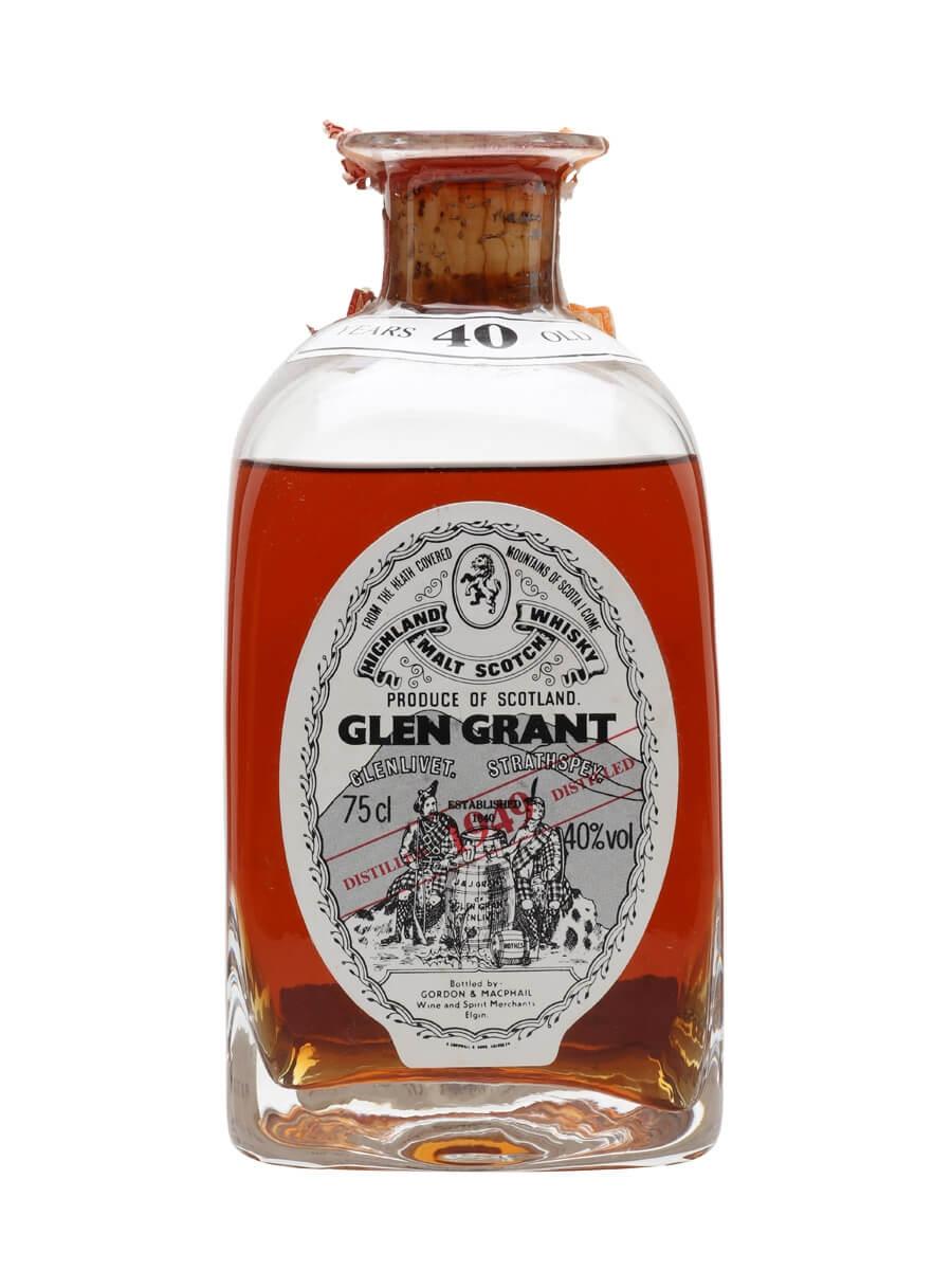 Glen Grant 1949 / 40 Year Old / Crystal Decanter / Gordon & Macphail