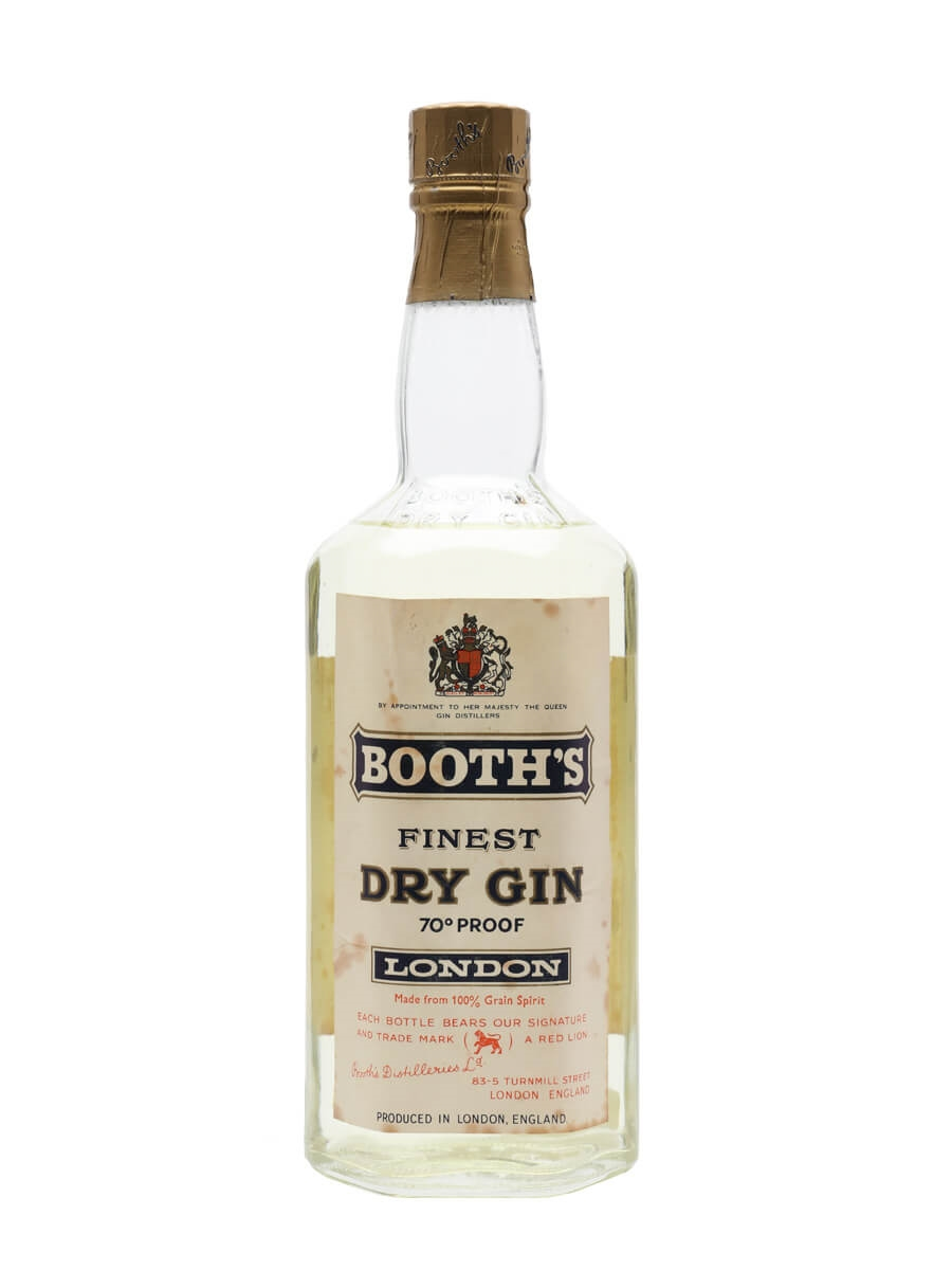 Booth's Finest Dry Gin / Bot.1960s
