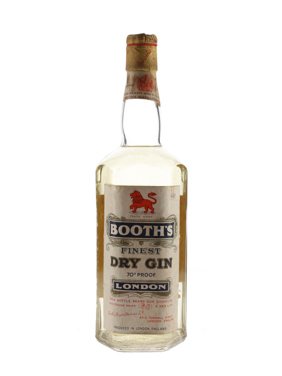 Booth's Finest Dry Gin / Bot.1958
