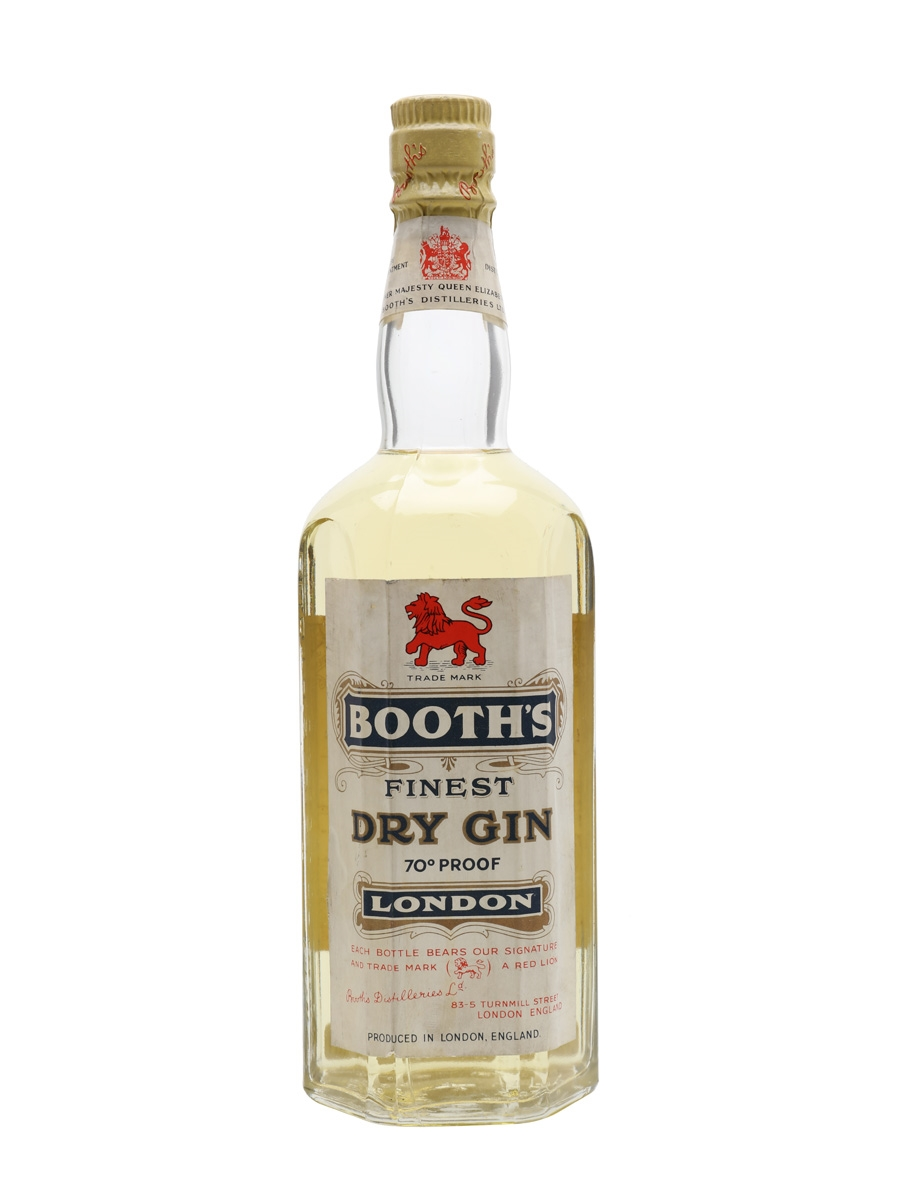 Booth's Finest Dry Gin / Bot.1957
