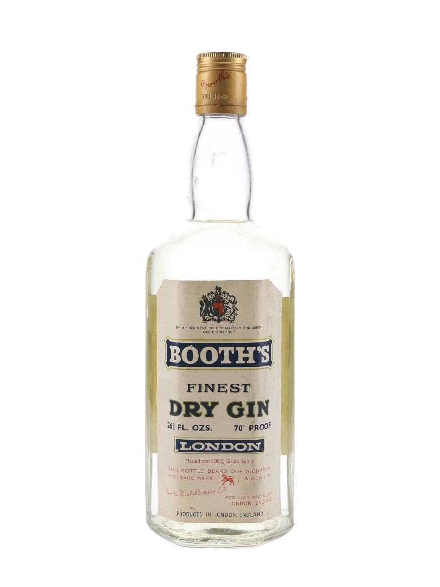 Booth's Finest Dry Gin / Bot.1966