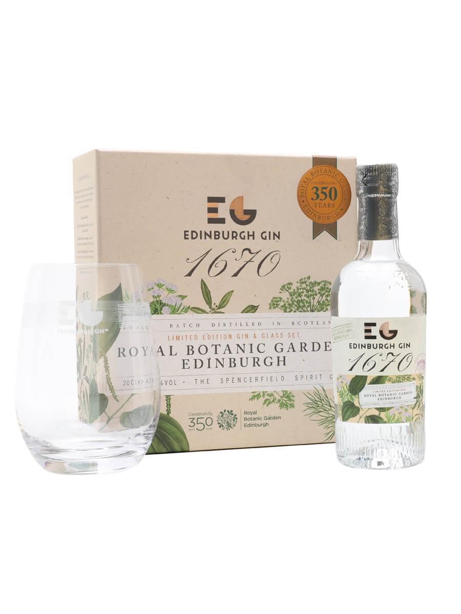 Edinburgh 1670 Royal Botanical Gardens Gin / Glass Pack