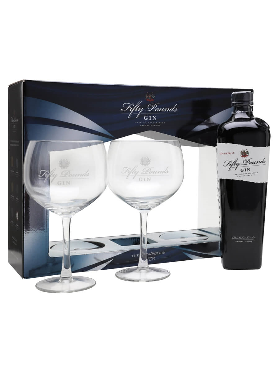 Fifty Pounds London Dry Gin / 2 Glass Pack
