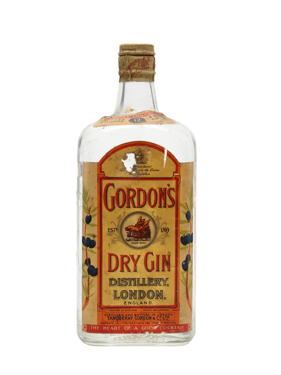 Gordon's Dry Gin / Bot.1950s / Spring Cap