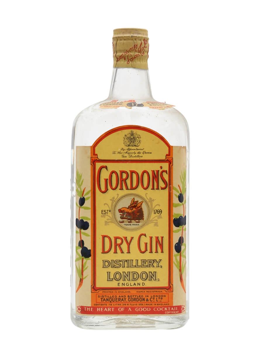 Gordon S Dry Gin Bot 1950s Spring Cap Buy From The Whisky Exchange