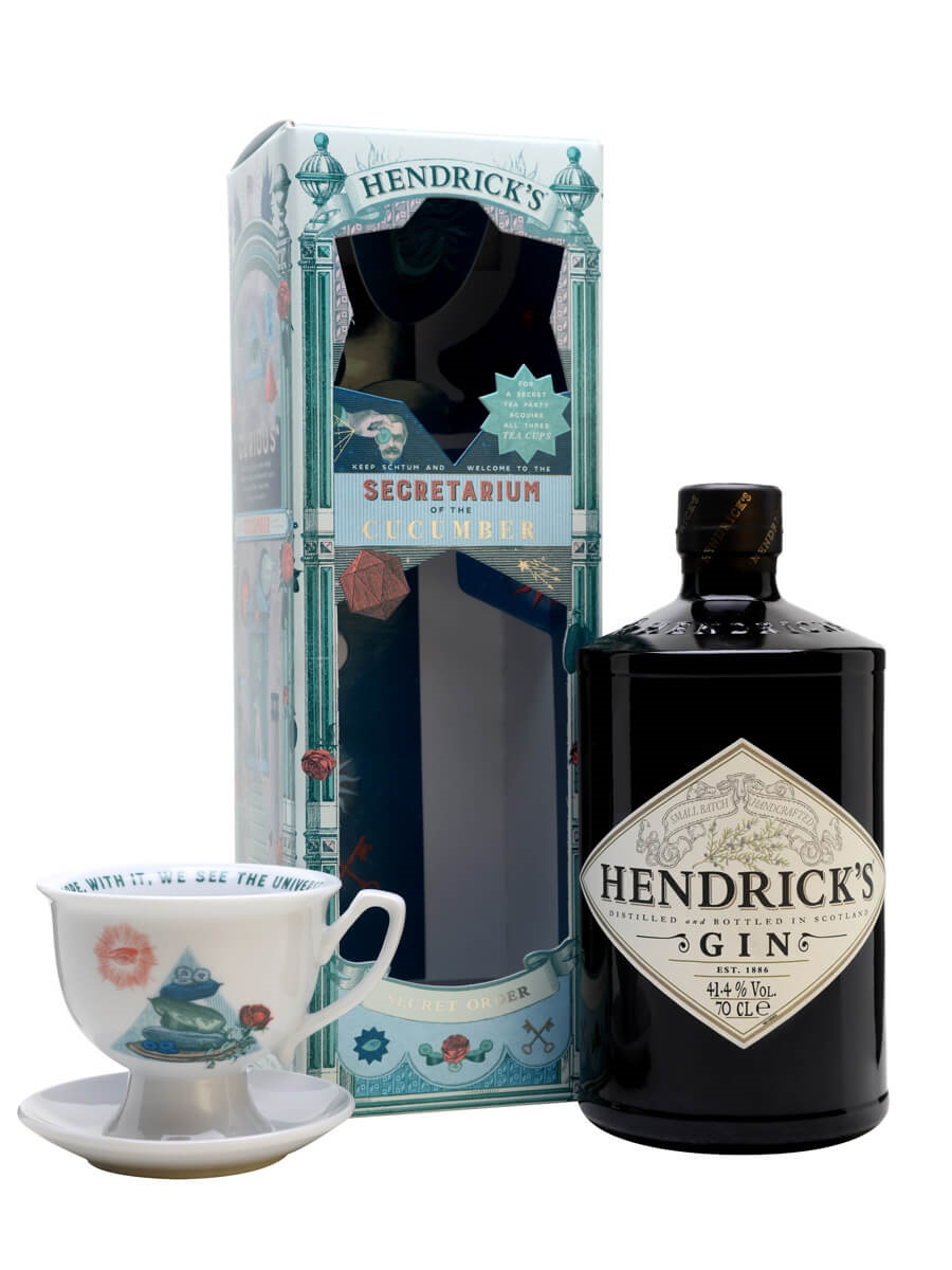 Hendrick's Secretarium Gift Set with Tea Cup