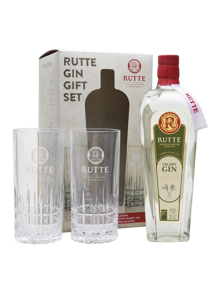 Rutte Celery Gin / Two Glass Gift Set
