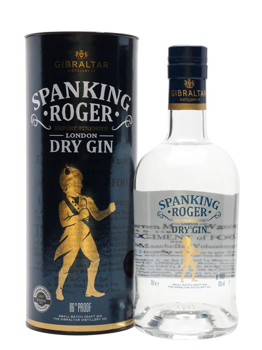 Spanking Roger Export Strength London Dry Gin / Gibraltar Distillery Co