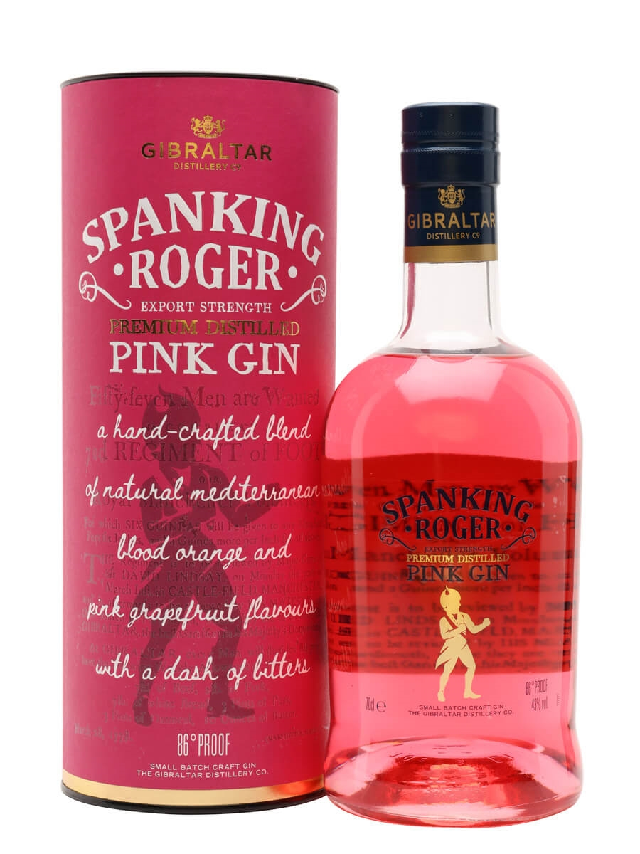 Spanking Roger Pink Dry Gin / Gibraltar Distillery Co