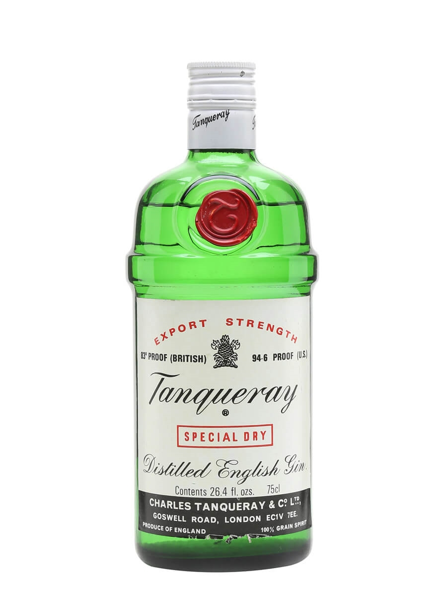 Tanqueray Export Strength Bot 1970s