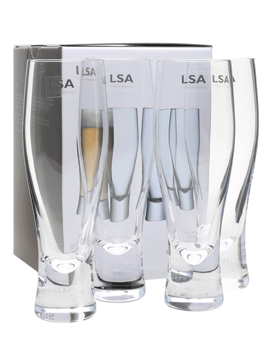 Four Bar Lager Glasses / LSA / 4x40cl