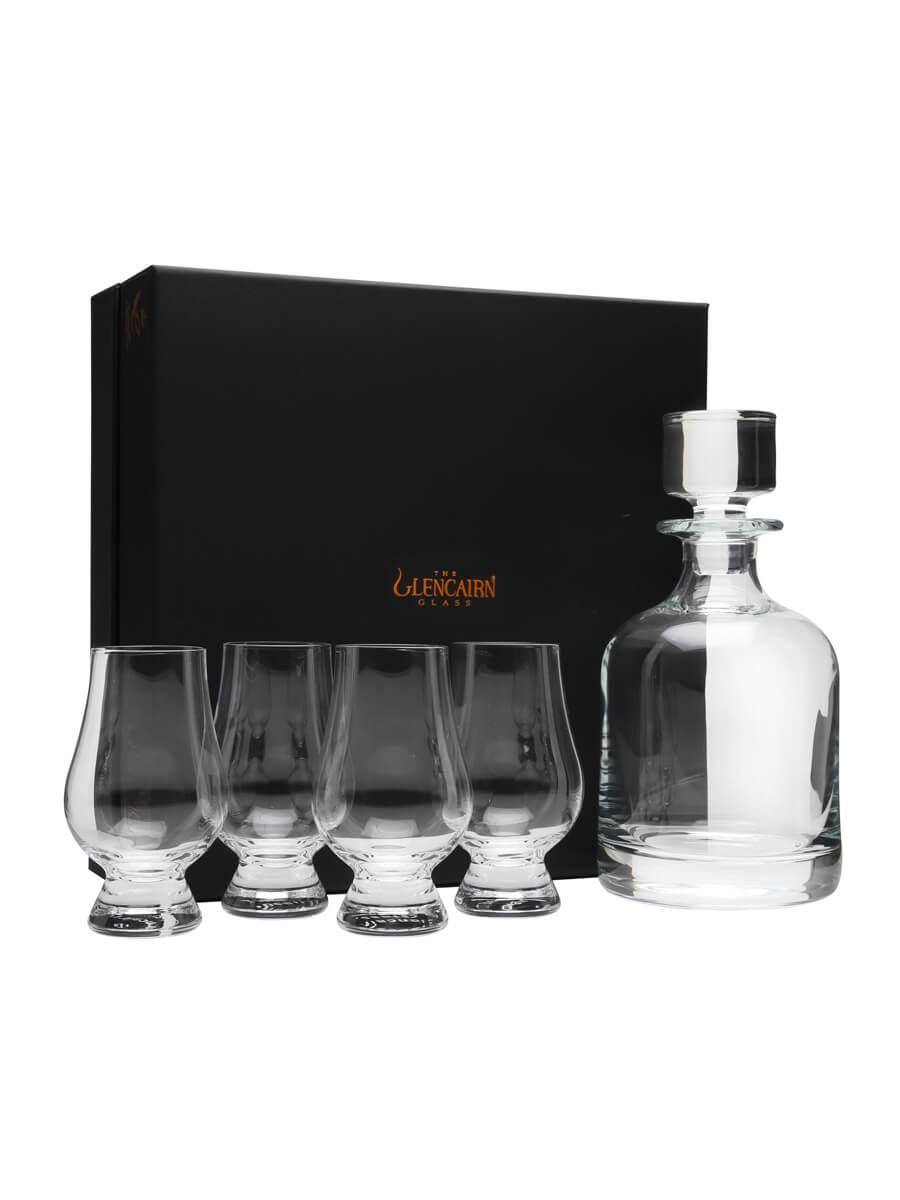 Glencairn 4 Glasses and Decanter Set / with Presentation Box