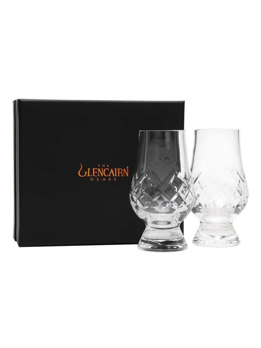 Glencairn Two Cut Crystal Glasses Set /with Presentation Box