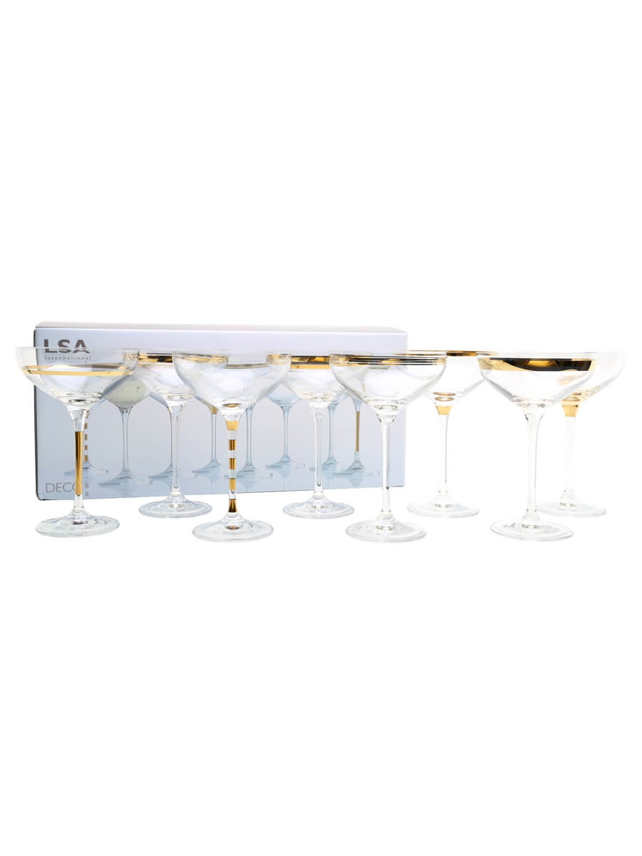 Eight Assorted LSA Deco Champagne Saucers - 8x23.5cl : The ...