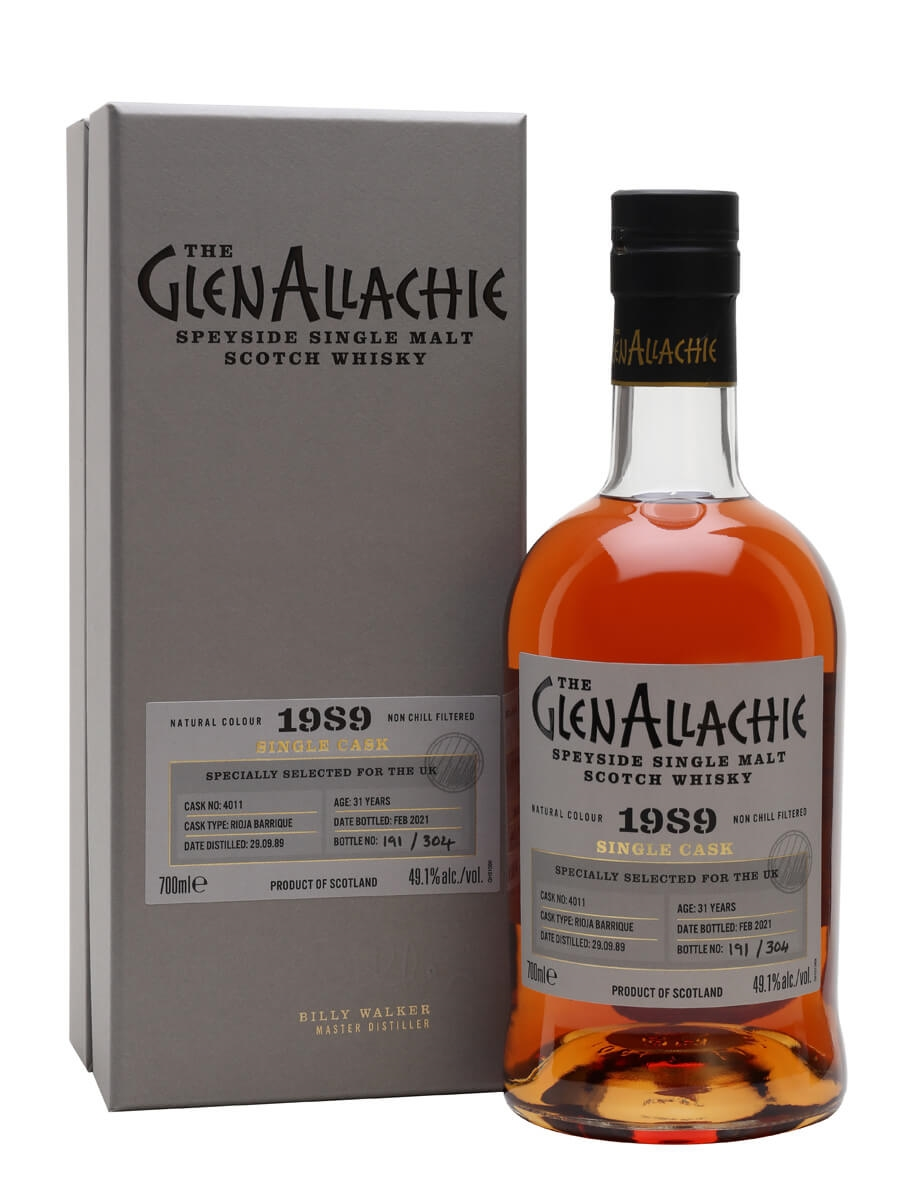 Glenallachie 1989 / 31 Year Old / Rioja Cask