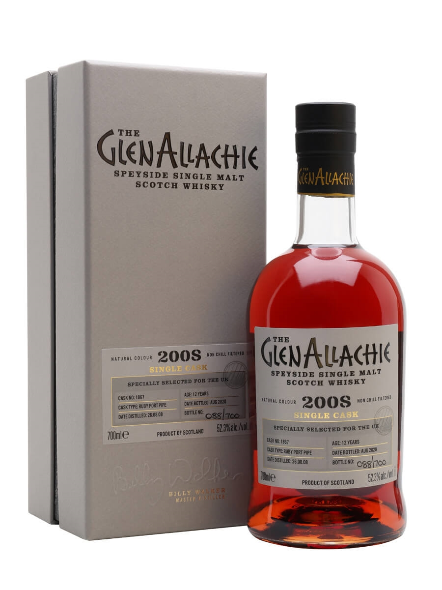 Glenallachie 2008 / 12 Year Old / Ruby Port Pipe