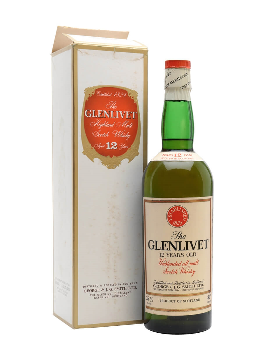 036aefaa822 Glenlivet 12 Year Old - Bot.1960s Scotch Whisky   The Whisky Exchange