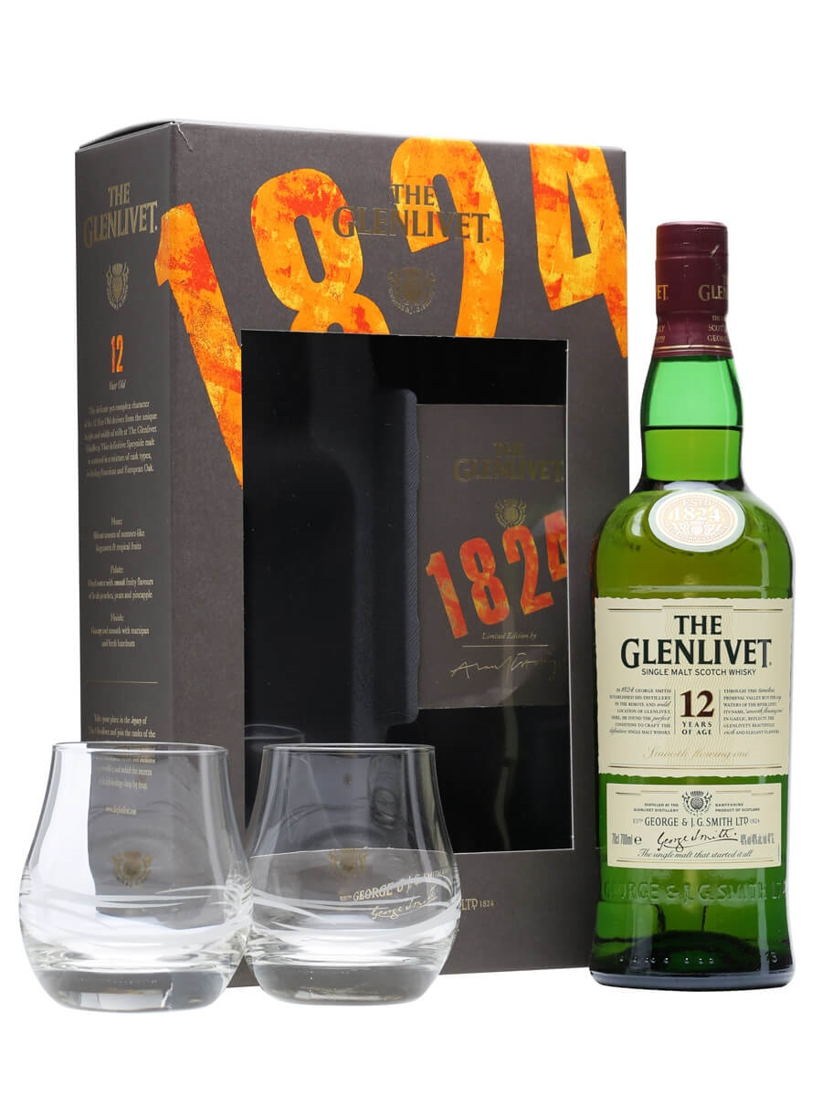 Glenlivet 12 Year Old + 2 Glasses / Gift Pack  sc 1 st  The Whisky Exchange & Glenlivet 12 Year Old + 2 Glasses - Gift Pack Scotch Whisky : The ... Aboutintivar.Com