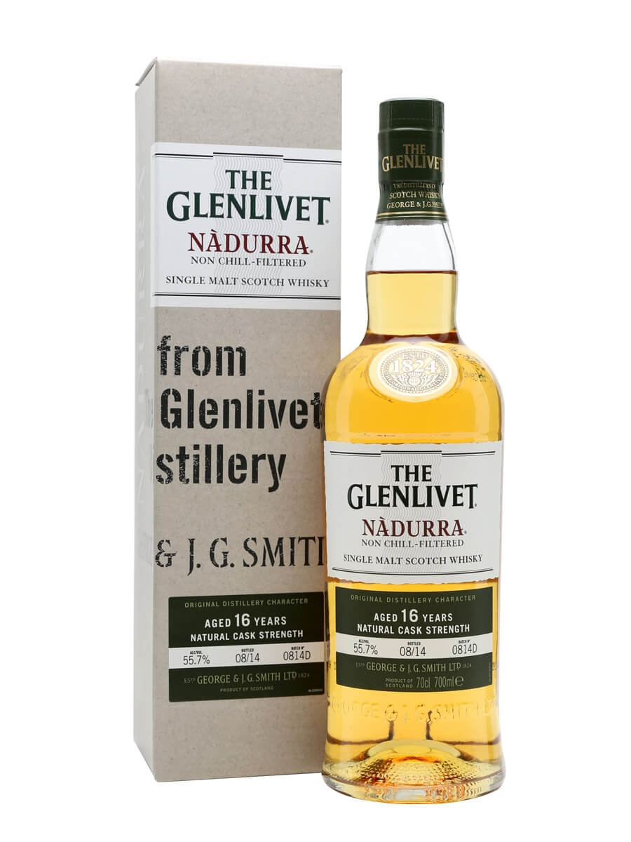 glenlivet 16 year old nadurra batch 0814d scotch whisky the