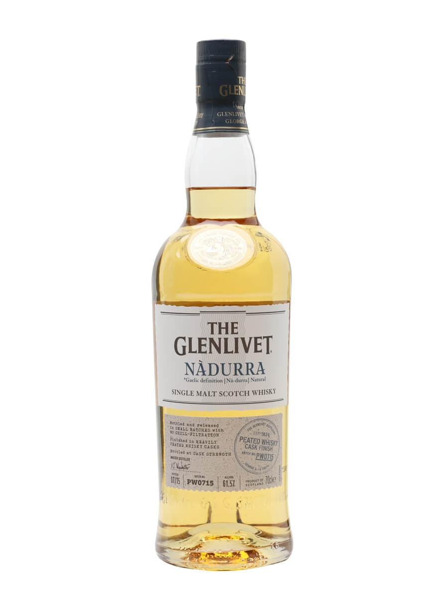 glenlivet nadurra peated whisky cask finish batch pw0715 scotch