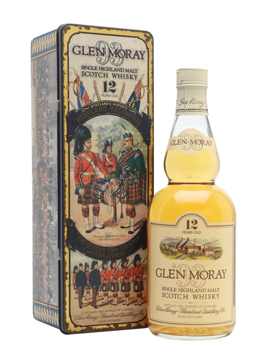 Glen Moray 12 Year Old / Bot.1980s / The Queen's Own Cameron