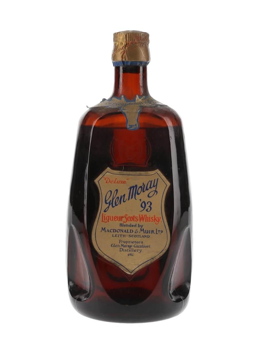 Glen Moray '93 / De Luxe Scots Whisky / Bot.1950s
